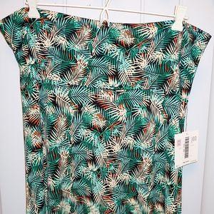 Lularoe Maxi Skirt: palm leaves print 2XL